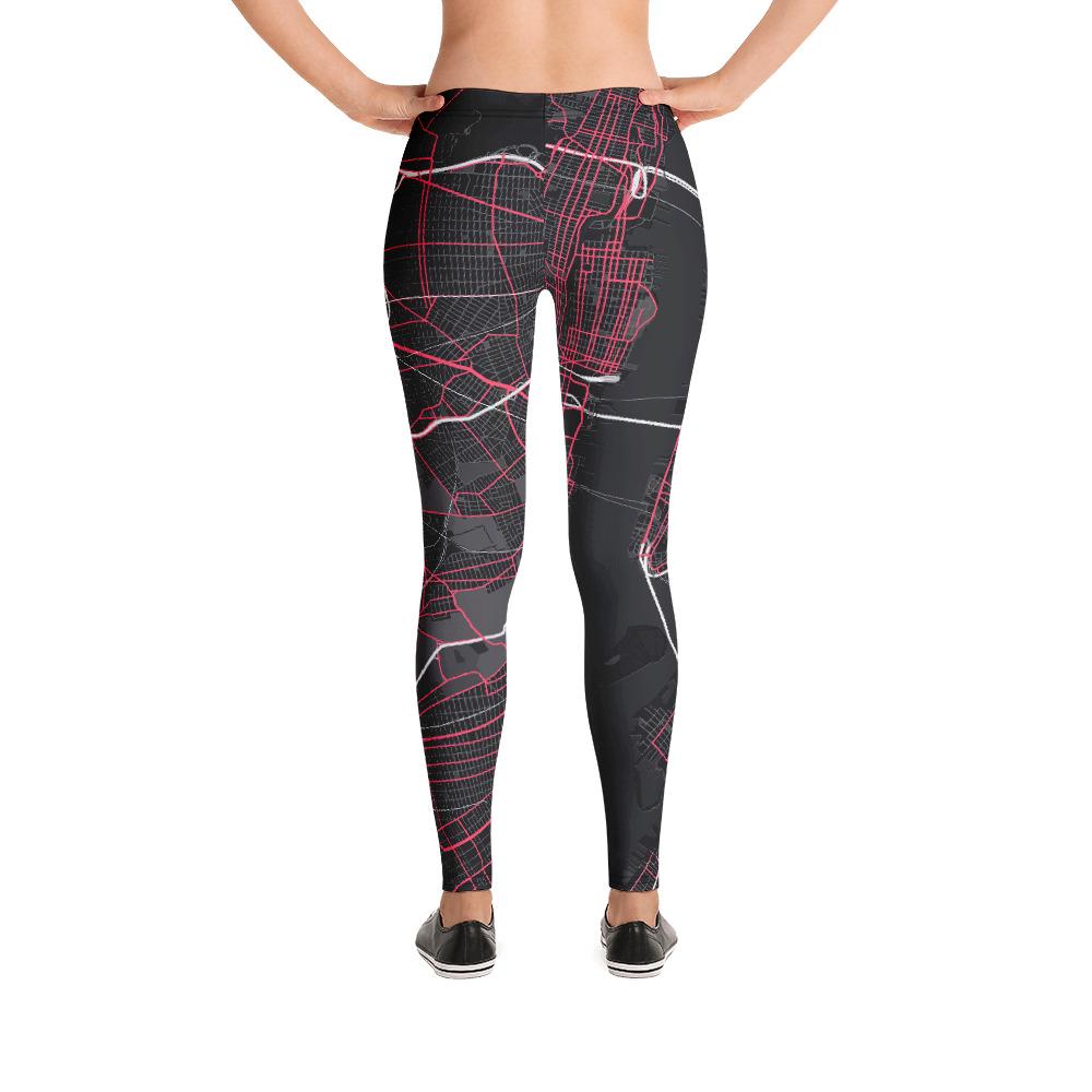 New York Black & Pink Leggings