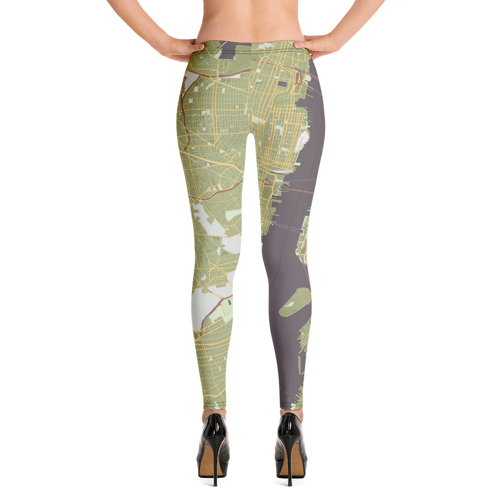 New York Olive Green Leggings