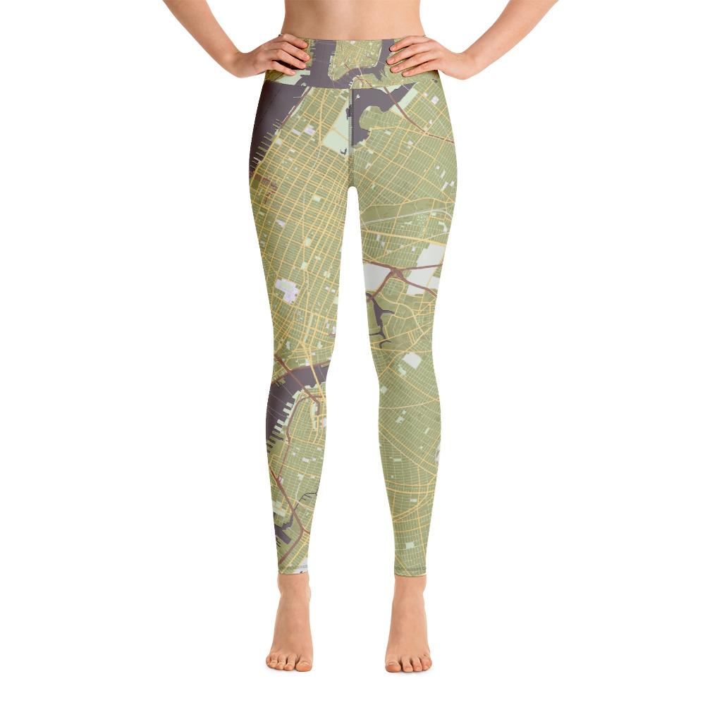 New York Olive Green Yoga Leggings