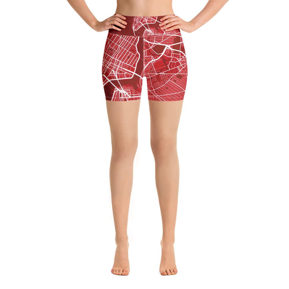 New York Red Yoga Shorts