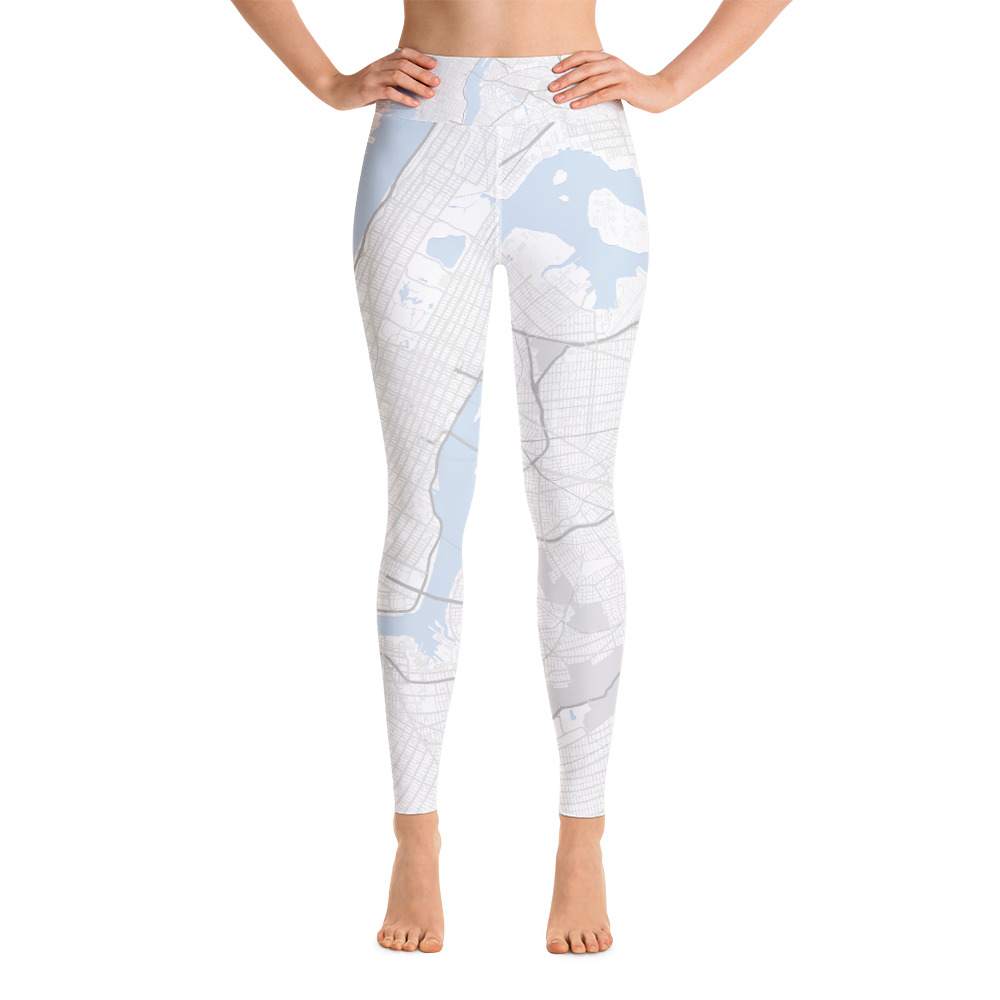 New York White Yoga Leggings