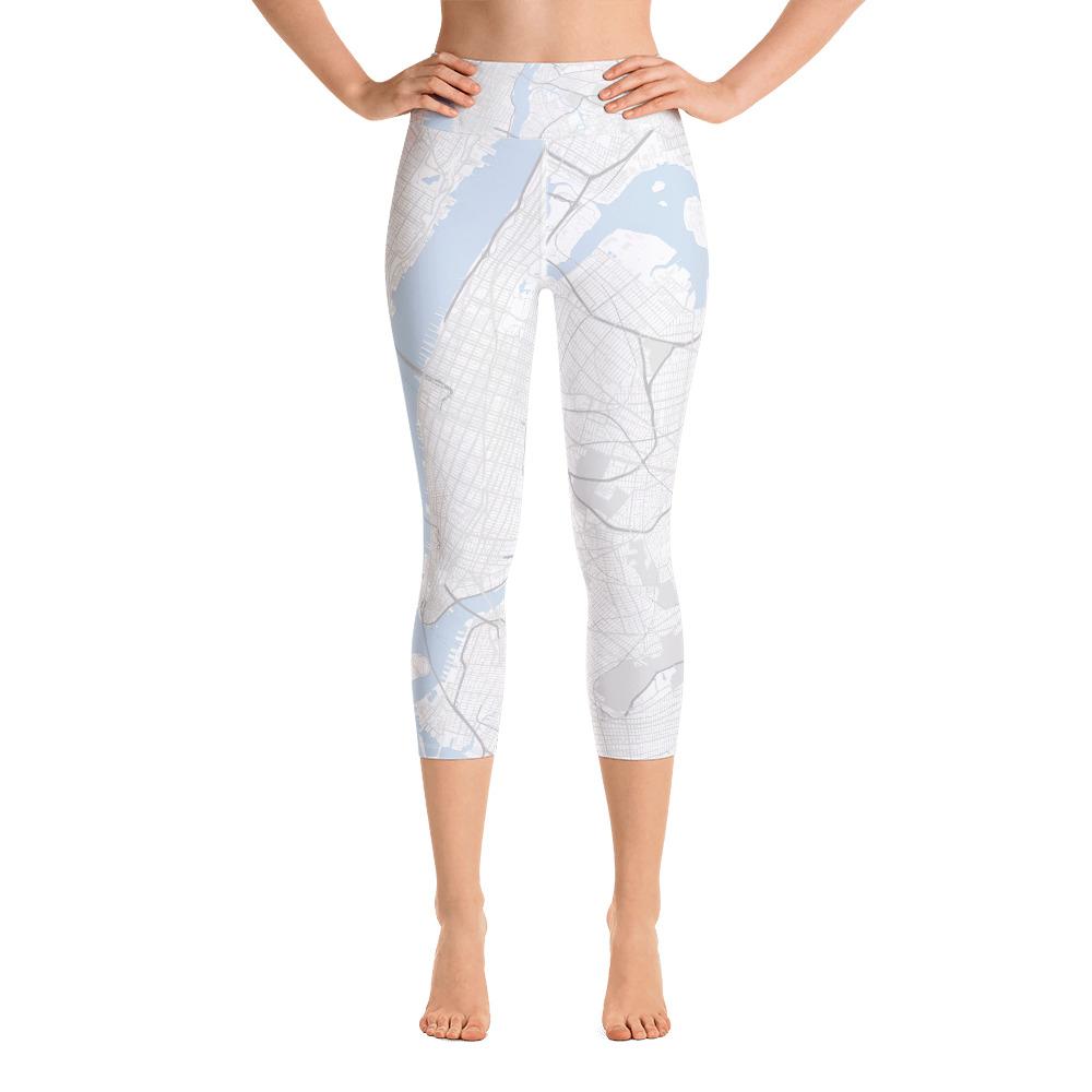 New York White Yoga Capri Leggings