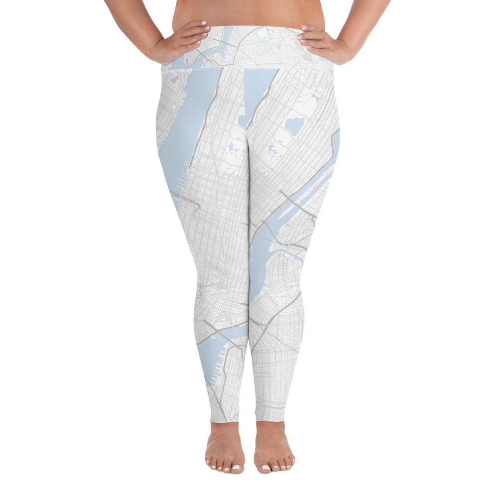 New York White Plus Size Yoga Leggings
