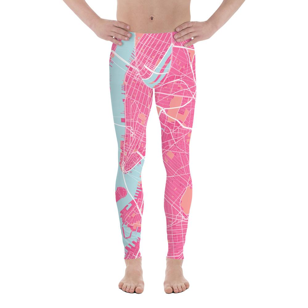 New York Pink Men's Leggings