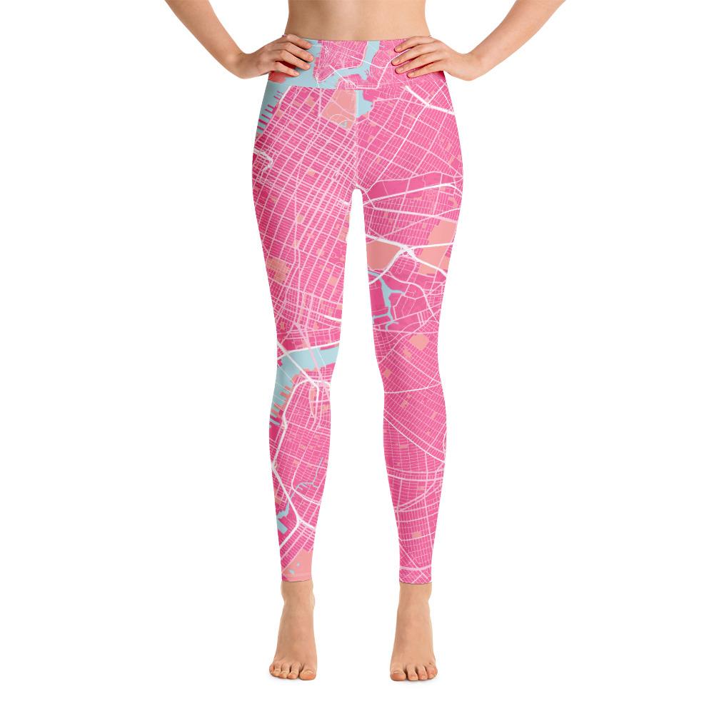 New York Pink Yoga Leggings