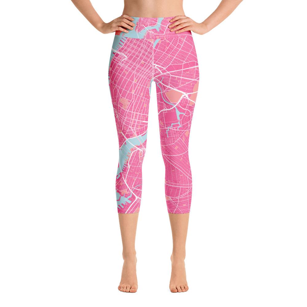New York Pink Yoga Capri Leggings