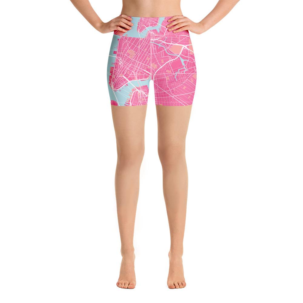 New York Pink Yoga Shorts