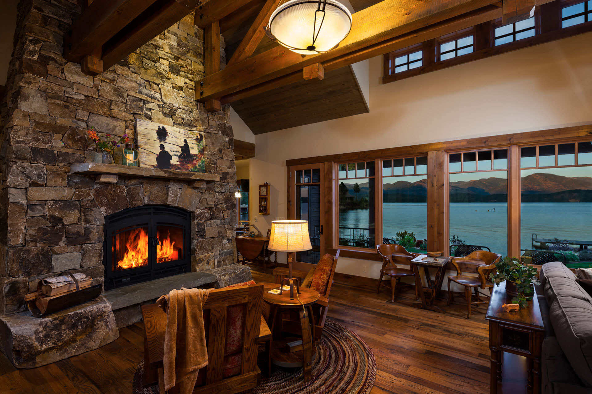 Lake House Mountain Architect Great Room