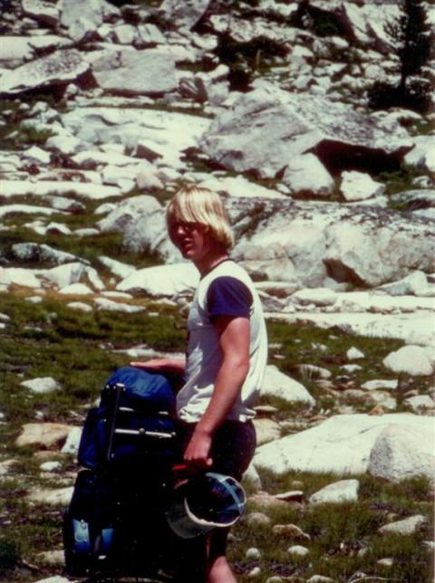 High Sierra Mountain Backpacking 80s bangs
