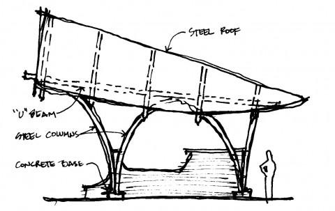 Bandshell architect sketch