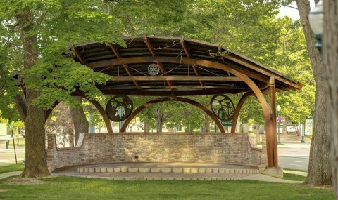Steel bandshell Hendricks Architect Sandpoint Idaho