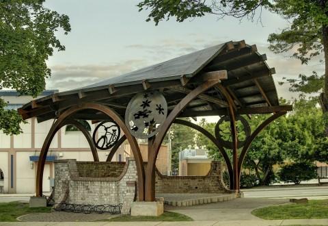 Steel Bandshell Hendricks Architecture Sandpoint Idaho