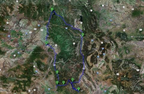 Idaho Camping Map