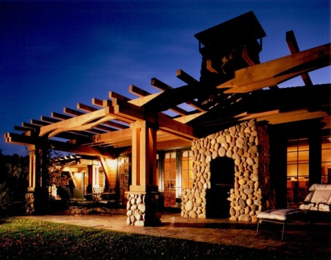 Trellis over Outdoor Living Space