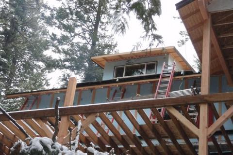 Energy Efficient Cabin Under Construction