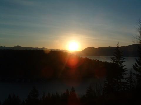 Sunrise over Lake Pend Oreille