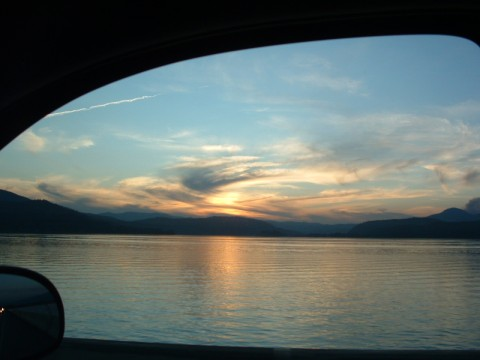 The Pend Oreille River from Sandpoint's Long Bridge