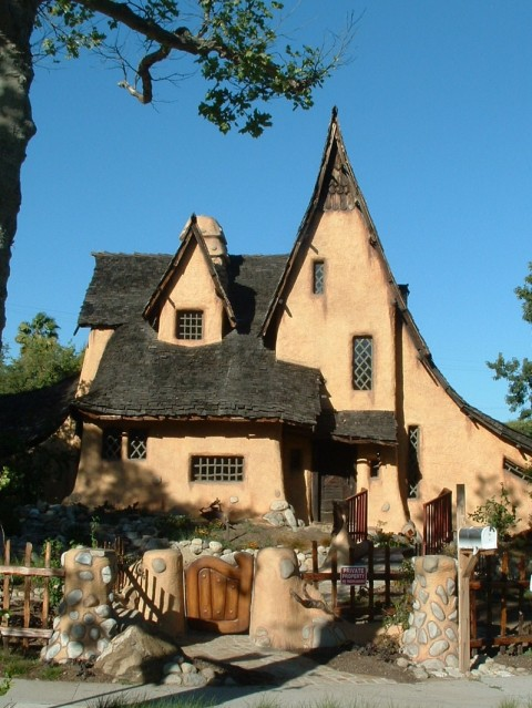 The Storybook Style Spadena House is pure Hansel and Gretel.
