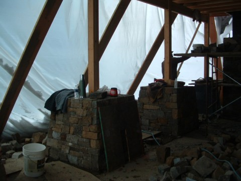 A winter masonry tent.
