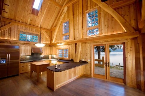 A Timber Frame Kitchen by Collin Beggs