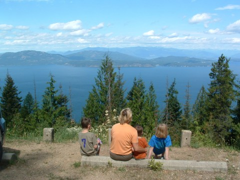 Lake Pend Oreille with Mineral Point in middle of photo