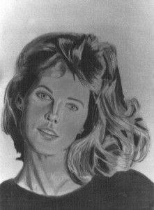 Woman in charcoal