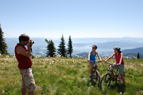 Mountain biking is a popular summer activity at Schweitzer.