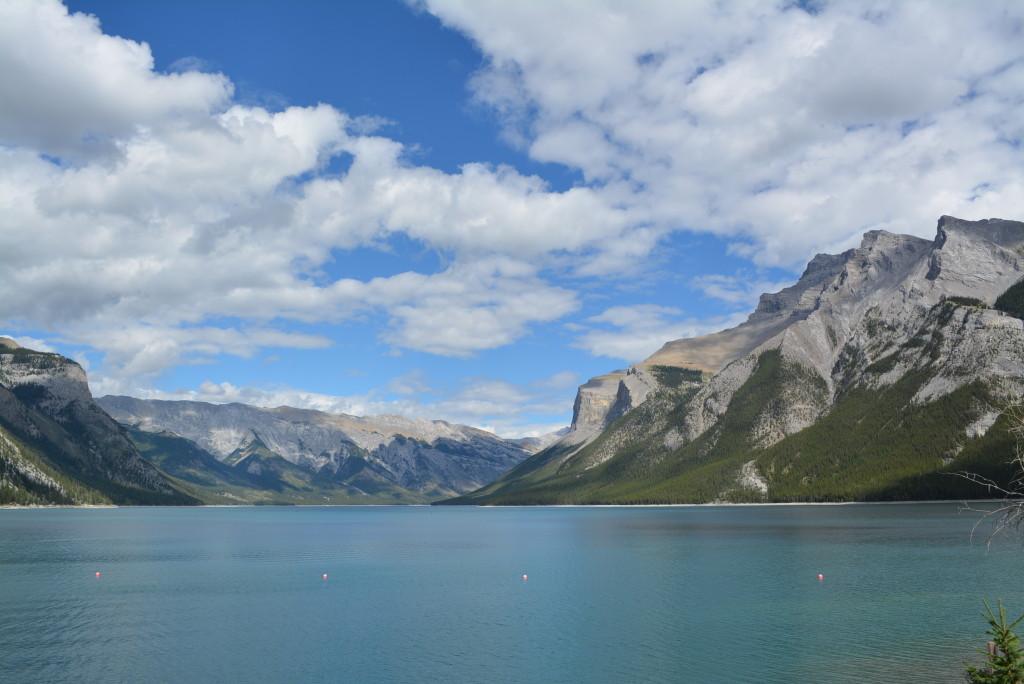Lake Minnewanka near Banff in Alberta