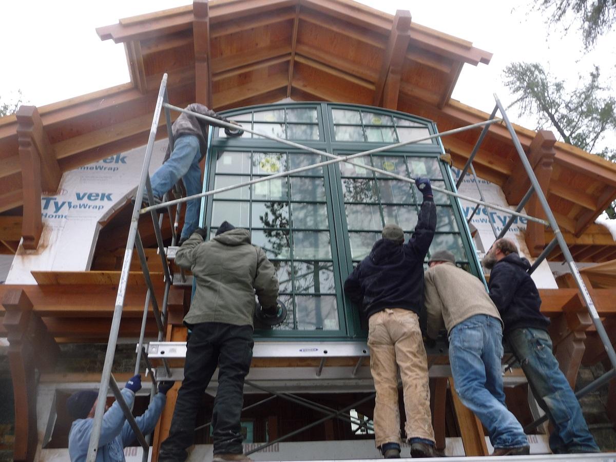 lodge home window installation