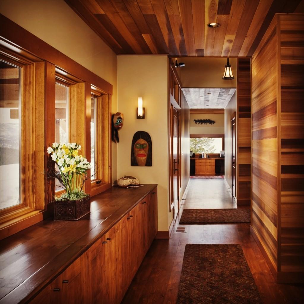 Custom home entry hall