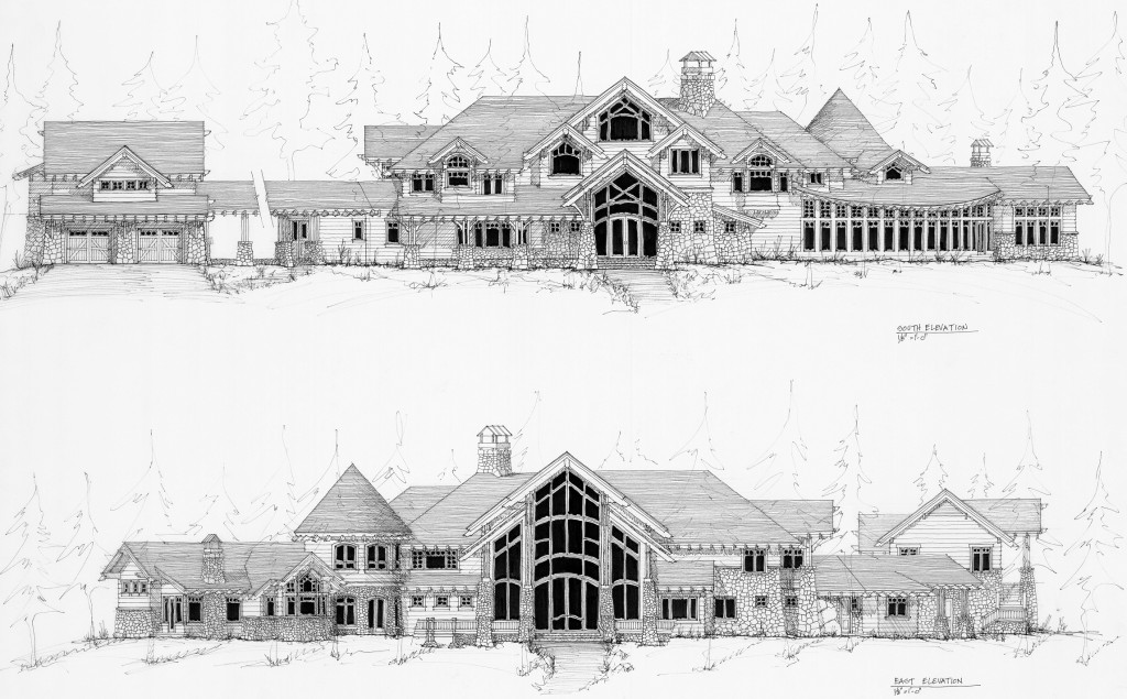 Pen and Ink Architect Elevations