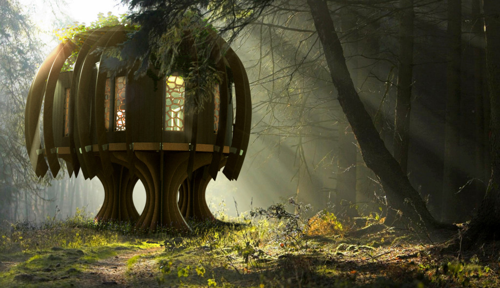 This creative treehouse makes for whimsical hobbit architecture