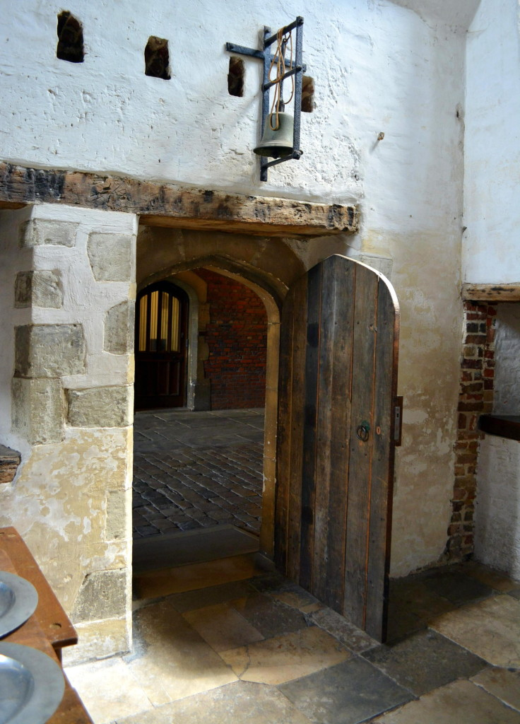 Old world architecture and door at Hampton Court Palace