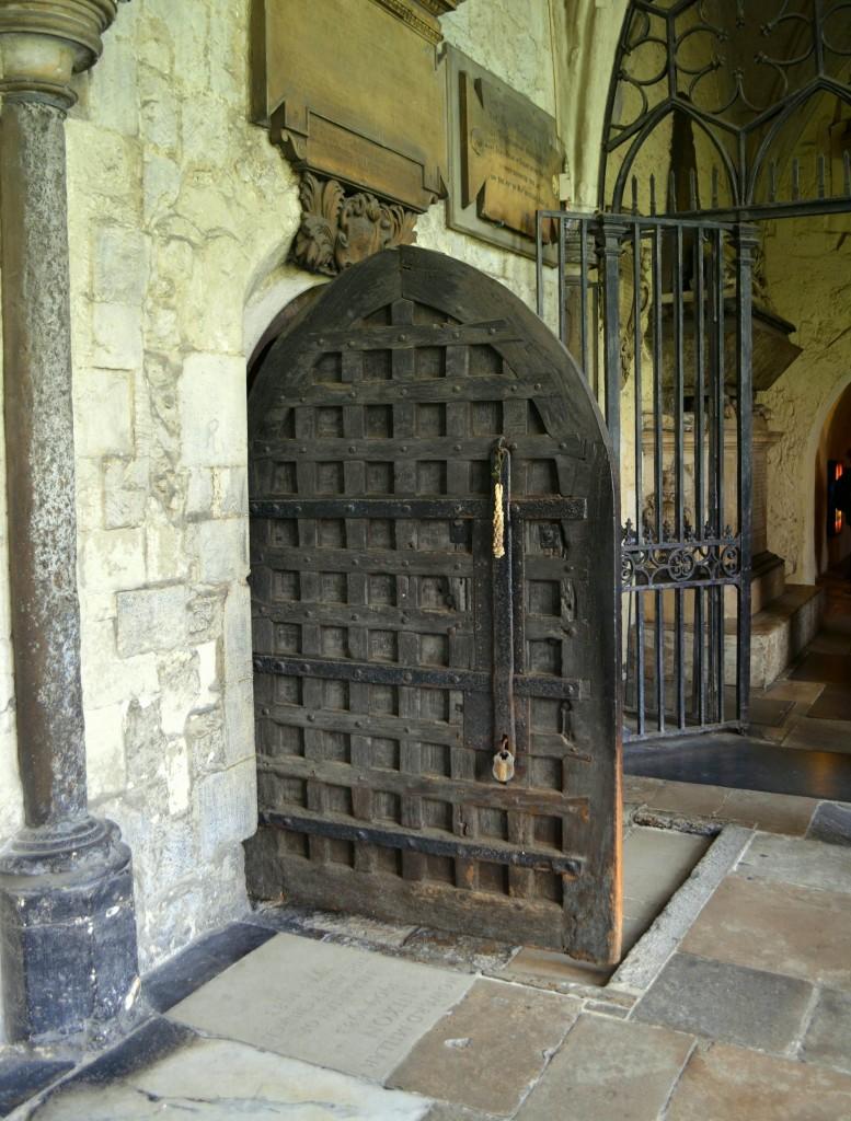 Old world door Westminster Abbey