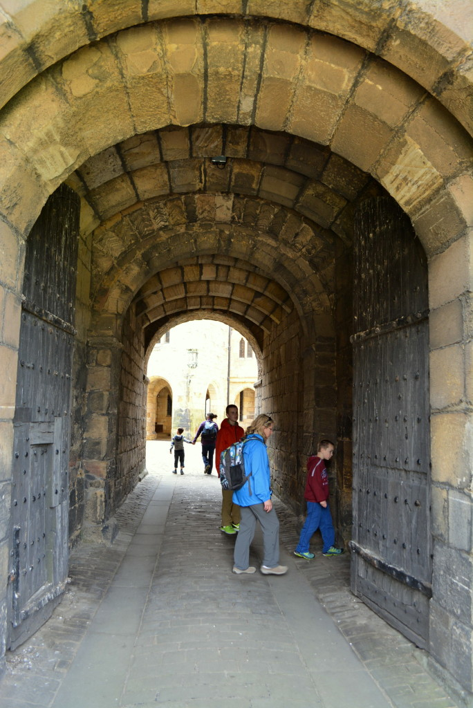Entrance to Alnwick Castle Keep as seen in Harry Potter and Downton Abbey