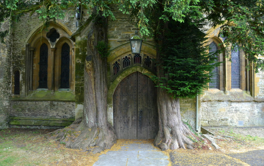 Old world architecture and door at Stow