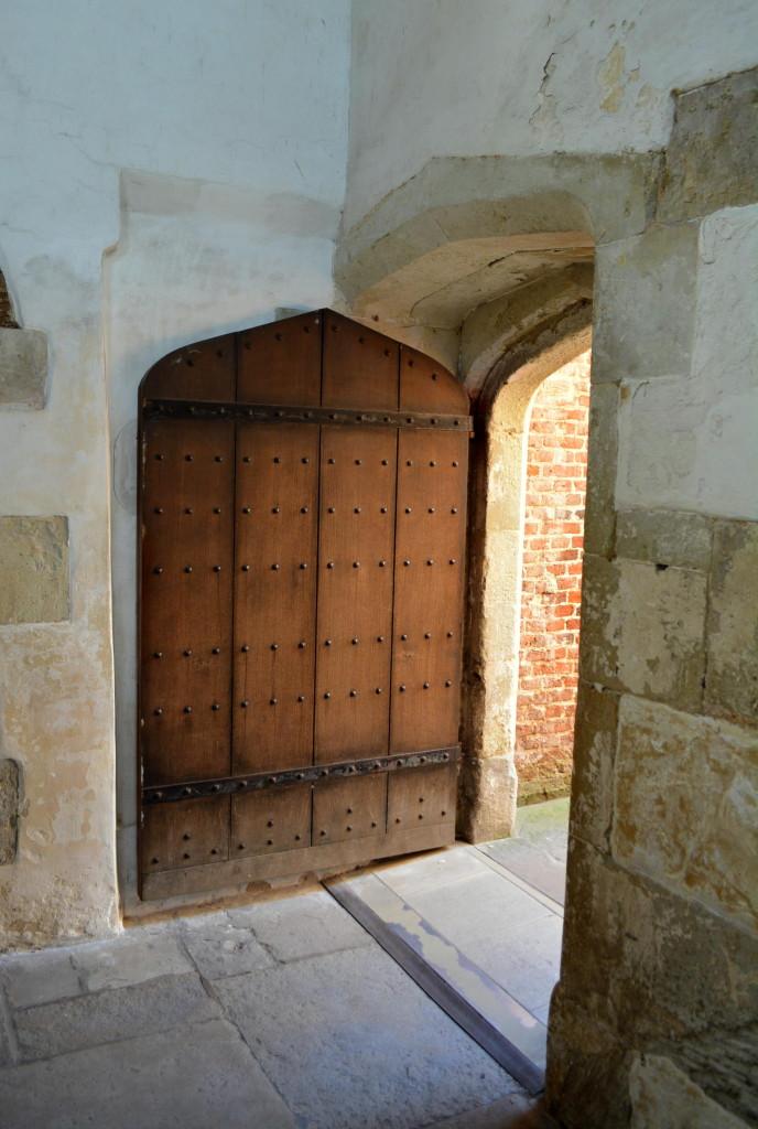 Old world door at Hampton Court Palace