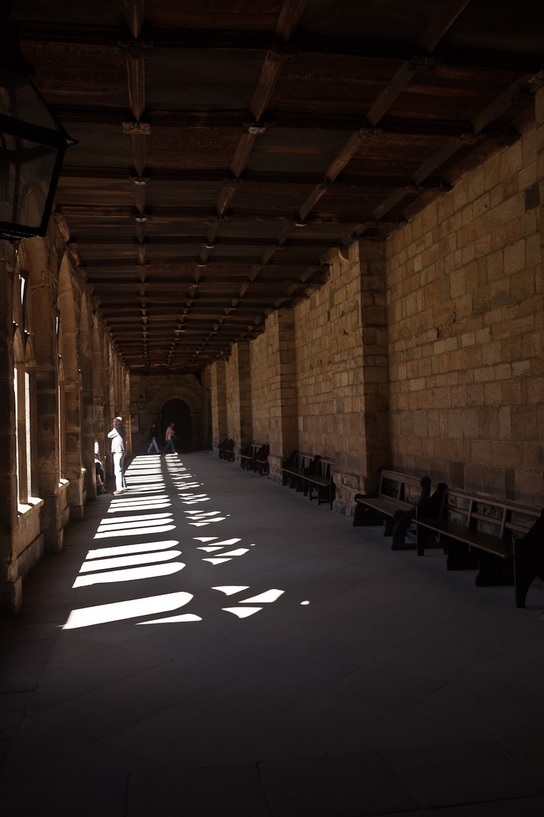 Cloisters at Durham Cathedral and Hogwarts Castle