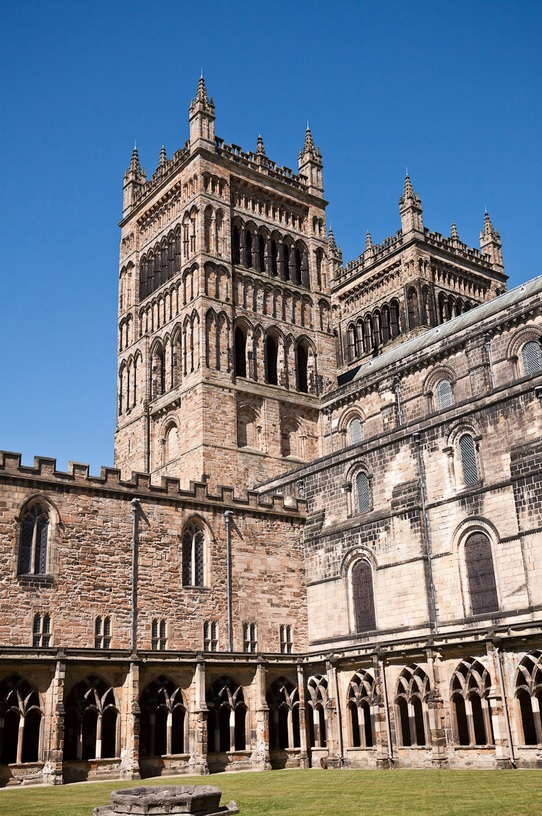Durham Cathedral Cloisters used in Harry Potter films as Hogwarts backdrops