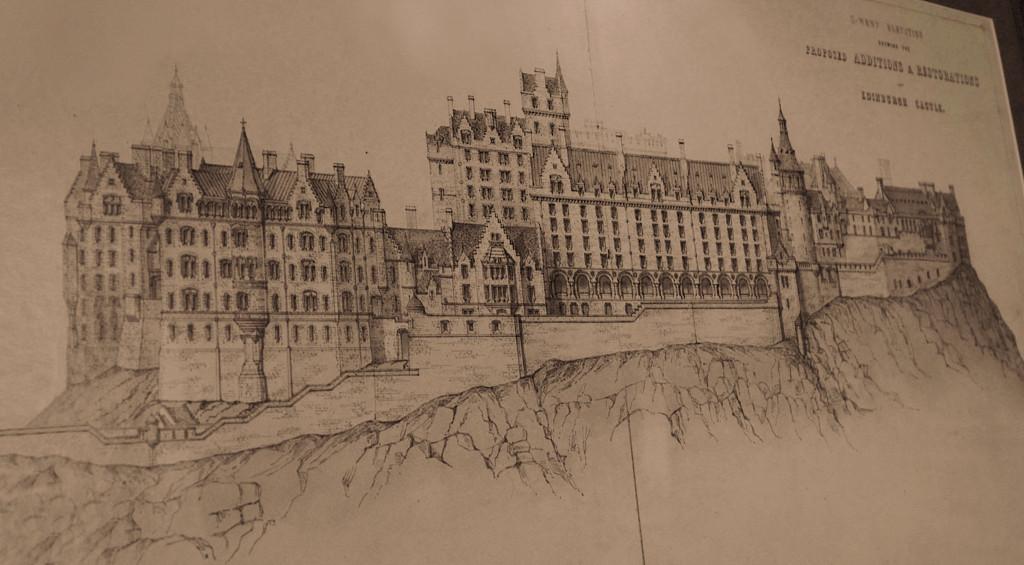 Edinburgh Castle Elevation similar to Hogwarts