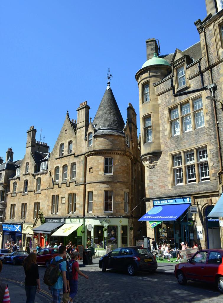 Edinburgh Cockburn Street Hogwarts Castle Architecture