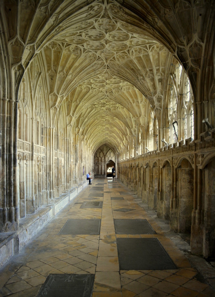 Hogwarts cloisters architecture Gloucester Cathedral