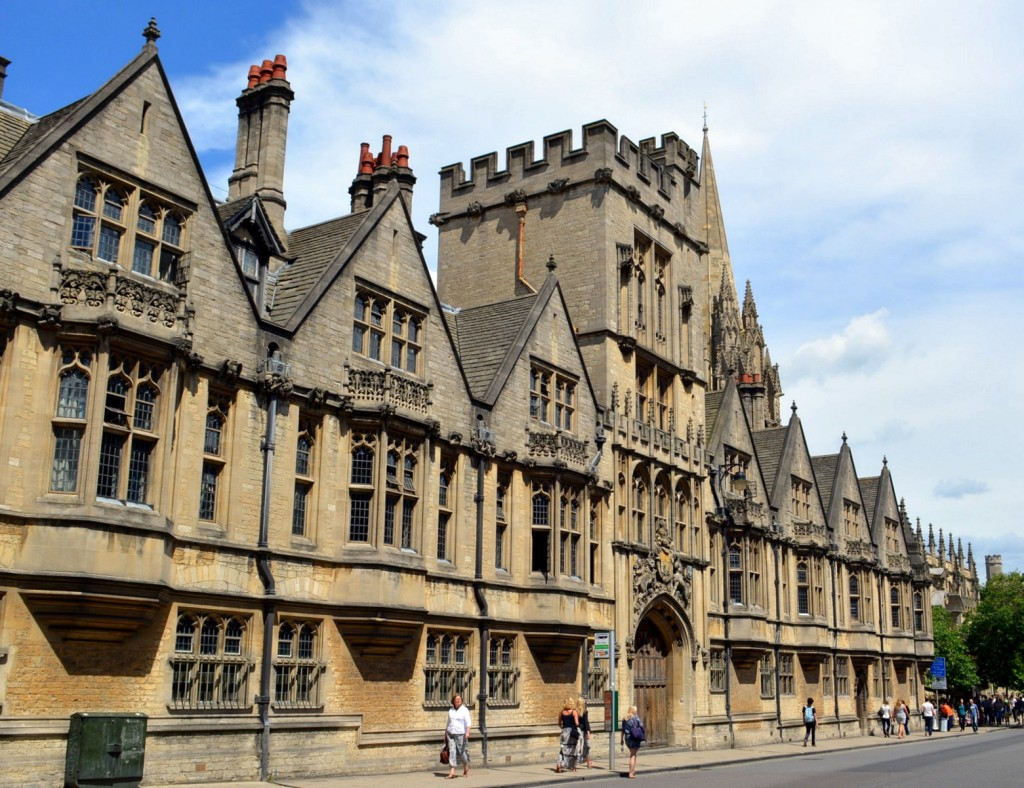 The architecture of Oxford and Hogwarts