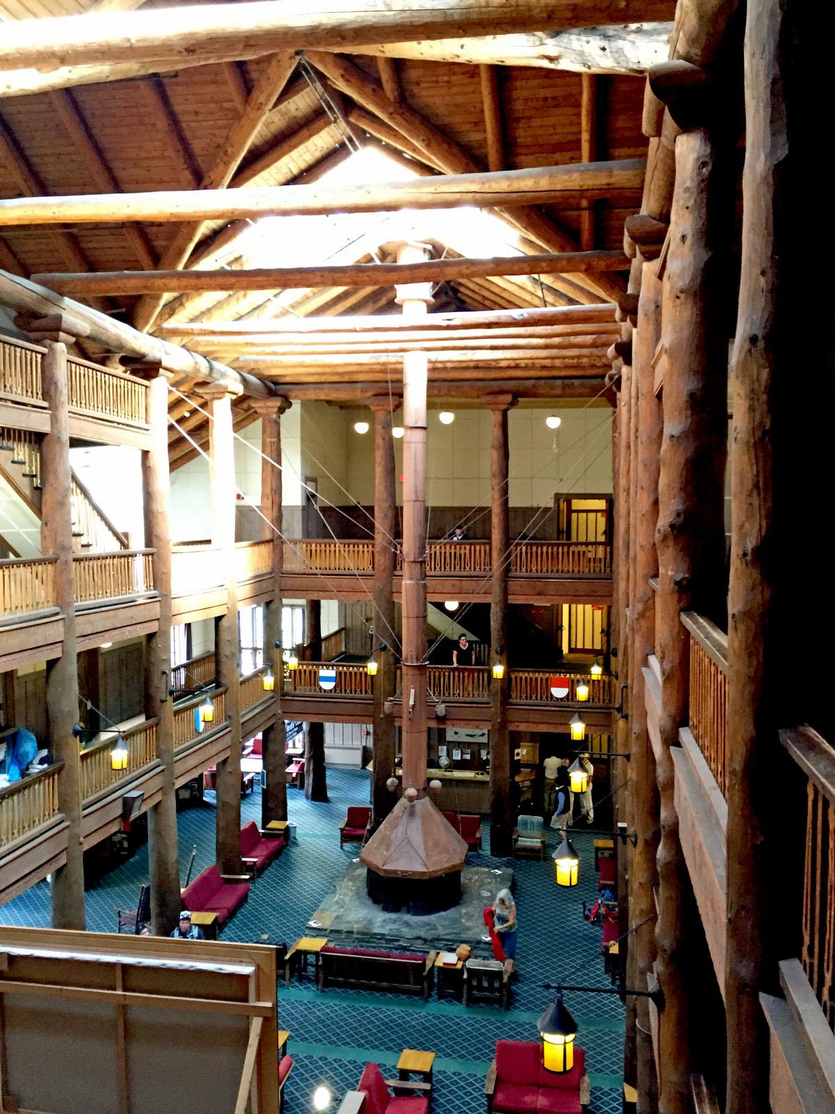 Mountain Architecture Many Glacier Lodge Interior