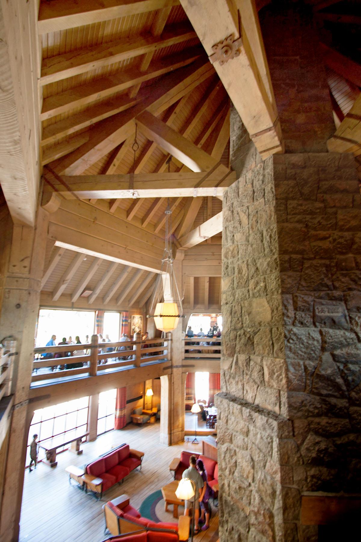 Mountain Architect designed Timberline Lodge Mt. Hood Interior