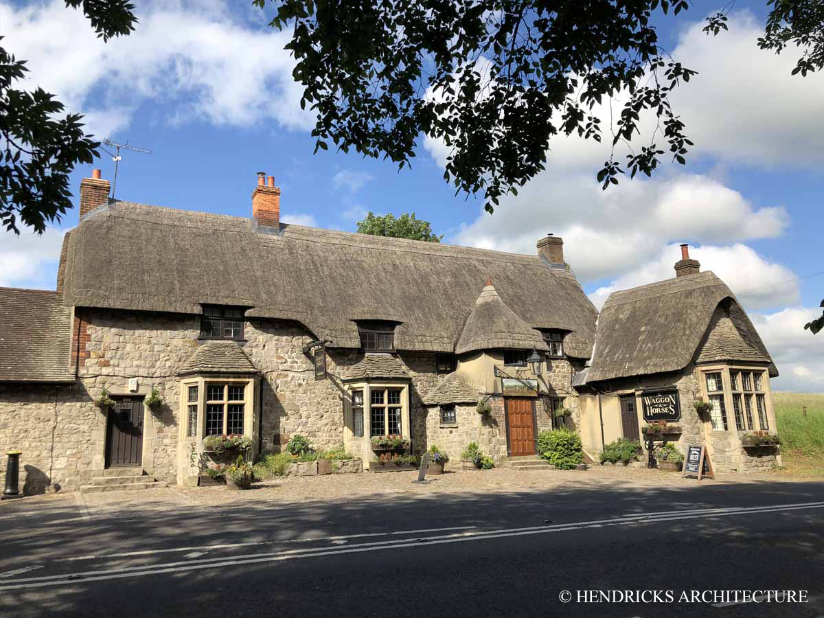Waggon & Horses, a thatched pub in Beckhampton