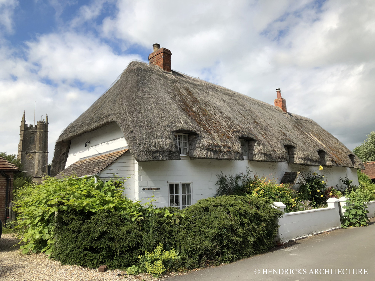 Thatched bakery in Avebury, England