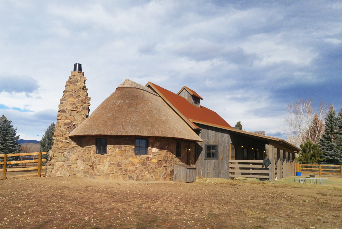 Thatched Longmont round barn by Colin McGhee