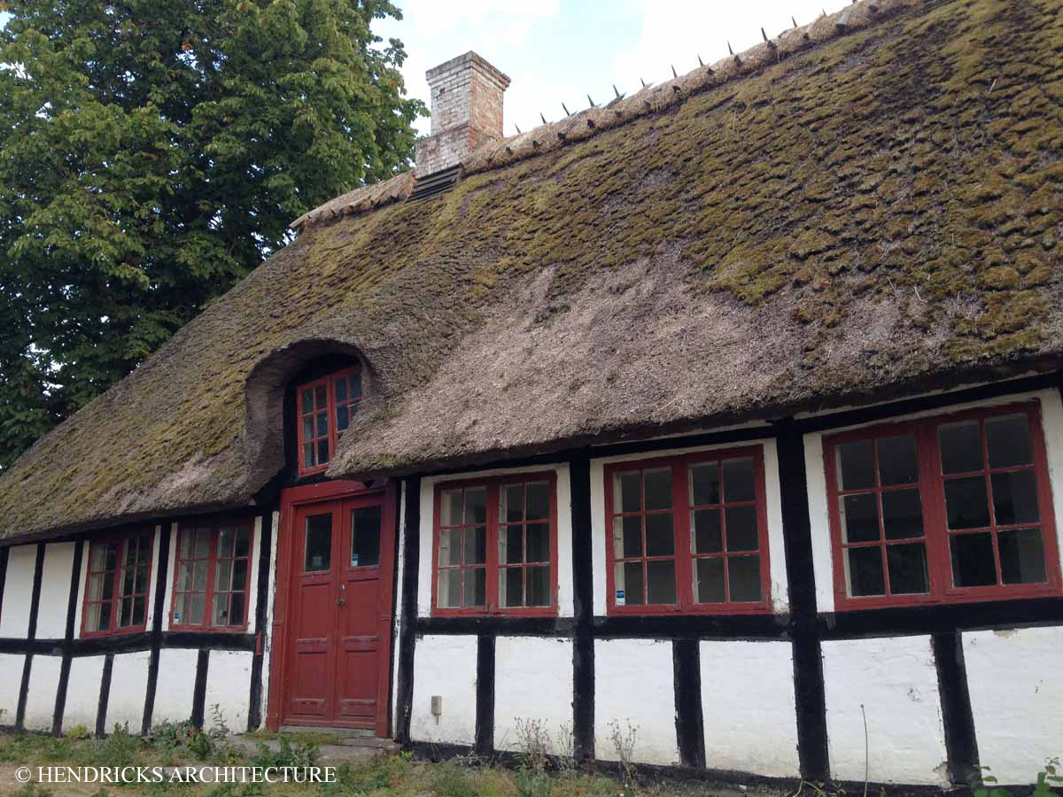 Thatched roof in Denmark