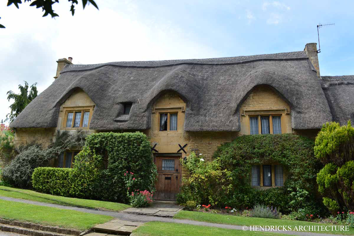 Thatch Cottage in Chipping Campden, Cotswolds, England.